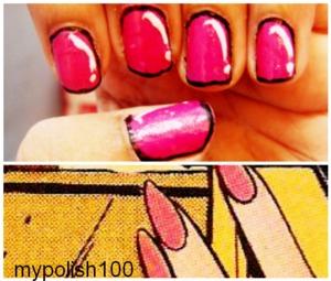 COMIC CHARACTER INSPIRED NAILS http://mypolish100.blogspot.in/2013/08/cartoon-nails.html