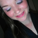 purple and blue light look
