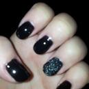 Black with caviar