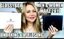 Doppel-Unboxing Glossybox Men & Women März 2019 | Wert über 100€