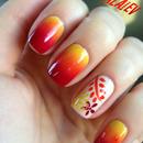 Gradient Floral Nails