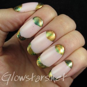 Read the blog post at http://glowstars.net/lacquer-obsession/2015/06/foil-french-and-half-moons/