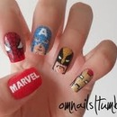 Marvel The Avengers nails! <3