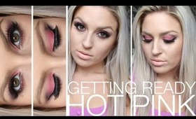 Chit Chat Getting Ready ♡ Hot Pink Eyes, MAC Tutorial
