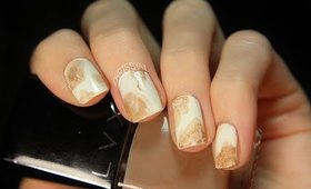 Fun & Easy Spilled Coffee Nail Art