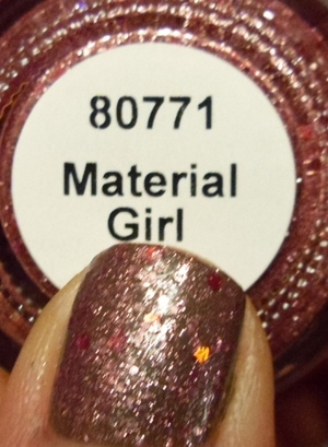 China Glaze Material Girl layered over NOPI My Empire My Rules