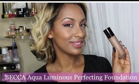BECCA Aqua Luminous Perfecting Foundation | Demo + Wear Test