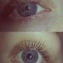 before and after semi permanent eyelash extensions,