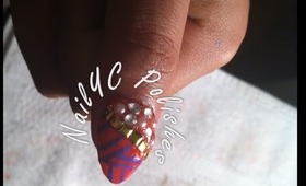 Glam Tribal Nail art