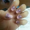 glittery purple on pink