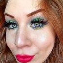Watermelon Inspired Vibrant Glittery Green & Pink Makeup Tutorial   Fruit Series
