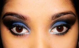 ★★Midnight blue eyes★★ Dramatic smokey eyes tutorial.