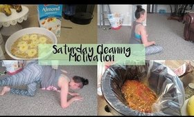 Saturday Cleaning Motivation | Clean With Me |  At Home Workout | Dinner Mississippi Roast