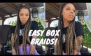 Giving Myself Waist Length Box Braids for the first time! $20!!