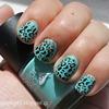 Mint leopard mani (stamping)