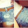 DIY high waisted shorts!