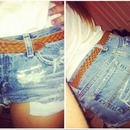 DIY high waisted shorts!