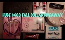 HUGE $400 FALL COLLAB GIVEAWAY (Urban Decay, MAC, Vera Wang, Benefit, Too Faced, Essie & more)