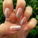 Lillac & Gold Nails