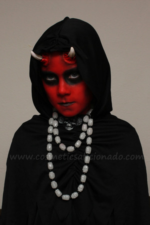 Devil look I did for Halloween 2011 on my daughter.