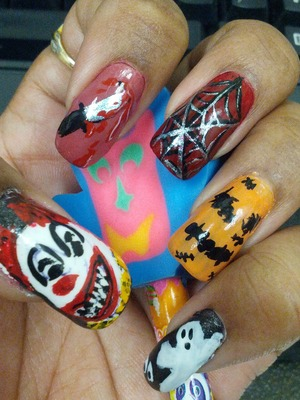 my nails I did...