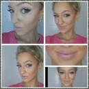 Pastel pink lip and contouring