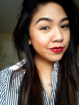 Bold brows with a bold lip