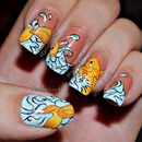 Koi fish nail art