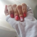 pink & white bunny nails