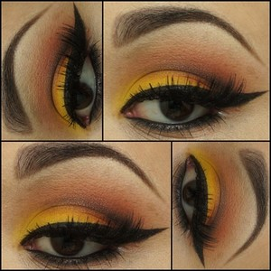 I am still obsessed with Sugarpill's Burning Heart Palette. I used the shadows from that palette to create this Sunset Look.