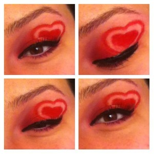 valentines day look with a heart!