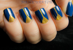 V-gap manicure with SpaRitual Undercurrent and Aurum