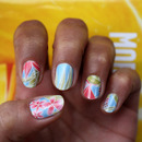Hawaiian Flowers Nail Art Decals