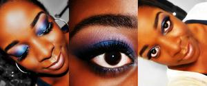 purple/blue smokey eye