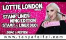 Lottie London Stamp Liner: Wing Edition (Stamp & Liner Duo) | Demo & Review #WHOA! | Tanya Feifel
