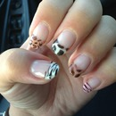 Animal print nails cheetah zebra