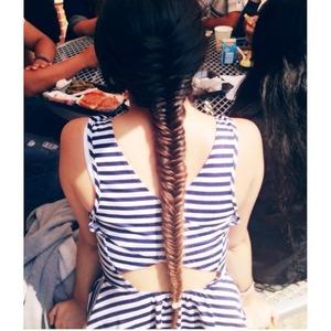 Fishtail braid done by my friend 👌