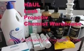 HAUL   Lush Haircare, Proactiv, Chemist Warehouse