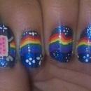 Nyan Cat Nails!!!