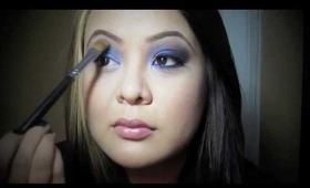 Midnight Blue and Purple Eye Makeup Tutorial