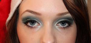 Green&Silver Christmas MakeUp ♥