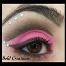 Brown/Pink Eye w/ Rhinstones