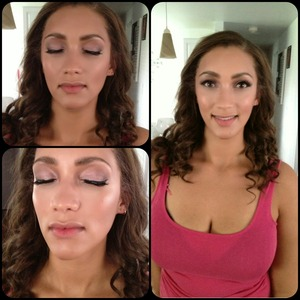 Guest of wedding day makeup on my cousin!