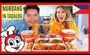 JOLLIBEE MUKBANG WHILE SPEAKING TAGALOG! 먹방 (Eating Show!)
