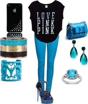 Love pink in blue