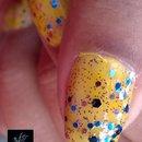 China Glaze: Sun Worshiper + FingerPaints: Dance Floor Diva