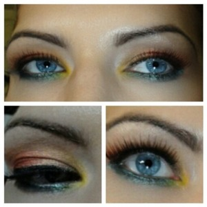 this look was originally done by you tube's jaclyn hill who is amazing! I loved it so much I had to try it myself