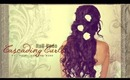 ★SUMMER FORMAL CURLY HAIRSTYLES  HALF-UP UPDO FOR PROM WEDDING   MEDIUM LONG HAIR TUTORIAL  GIVEAWAY