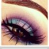 Purple blue and pink eyeshadow