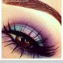 Purple blue and pink eyeshadow